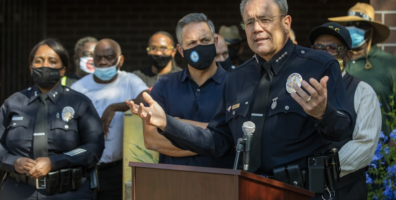 In South L.A., police join community leaders to denounce gun violence 'not seen in years'