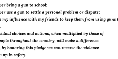 South Carolina Students Pledge against being part of Gun violence